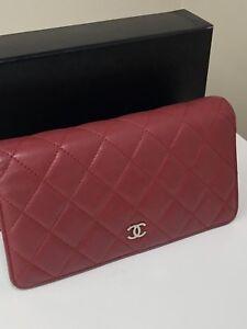 Chanel Lambskin Long Bifold Wallet