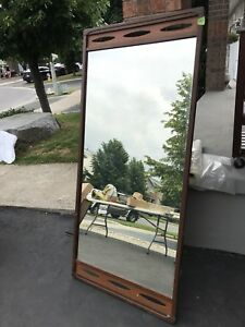Mirror in wood frame for dresser