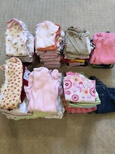Newborn to 3 months girl clothes lot
