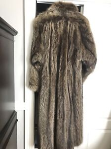 Raccoon Fur Coat Large Size and Tall