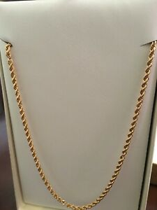 "20"" 10K Gold Rope Chain"