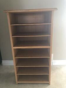 Oak storage/filing stand