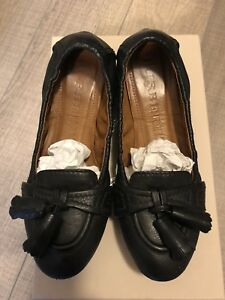 Burberry black leather tassels shoes - size 7