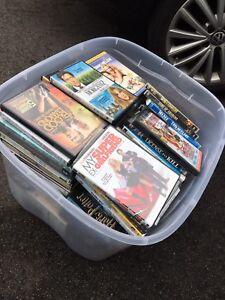 Full bin of DVDs and seasons