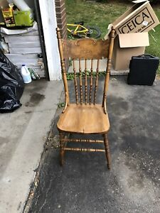 Selling (6) antique hardwood chairs! Refinished!