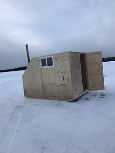 Ice fishing shack 7'x10' with skis toy hauler