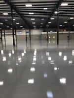 Polish concrete, epoxy coating/flooring
