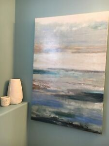 Teal wrapped canvas