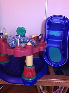 Exersaucer and bath tub