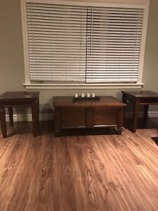 Storage coffee table and 2 matching end tables
