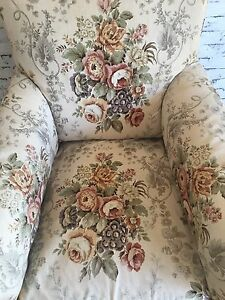 Vintage antique linen arm chair Top Camp Toowoomba City Preview