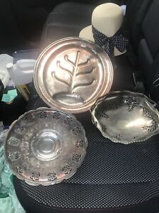 Vintage Plated Silver & Copper Dishes