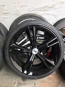 """4X ford FG falcon FPV 335 copy 20"""" gloss black wheels&tyres Chester Hill Bankstown Area Preview"""