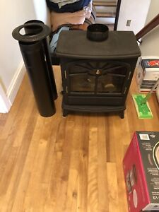 Electric fire place with fake chimney