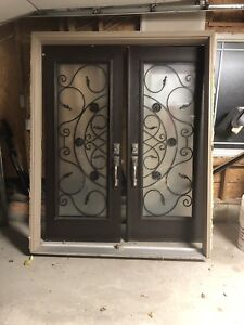 Double doors with inserts and frame