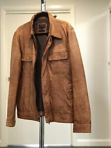 Genuine Leather Jacket (Tan Colour) Coombs Molonglo Valley Preview