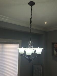 4-Light Shaded Chandelier