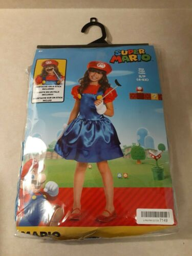 Mario Skirt Version Costume, Small (4-6x) (OPEN PACKAGE NEW)