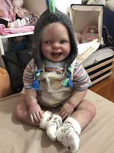 "SOLD 29"" Reborn Toddler Baby Boy Lifelike doll so real ! Docklands Melbourne City Preview"