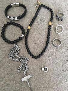 Men's Jewellery Take all for $40 or separate prices listed.