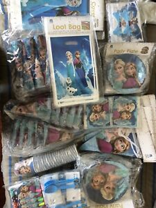 Birthday party supplies for themes like Frozen, Avengers etc