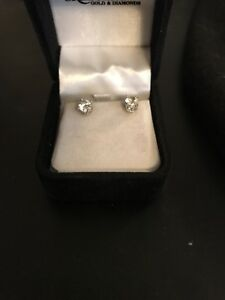 Beautiful pair of diamond earrings