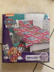Nickelodeon Paw Patrol Bed Quilt Cover Set - Single 140cm x 210cm.