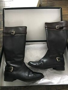 Leather riding boots 9.5 two tone