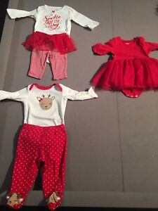 Baby girl 0-3 month Christmas outfits