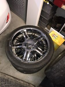 22 inch Alloy Rims and Tyers