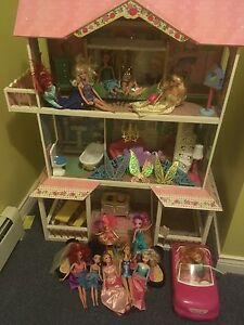 Barbie doll house and car