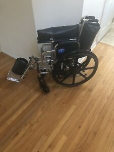 "Medline 24""  Excel Bariatric Wheelchair with Swing Away Footrest"