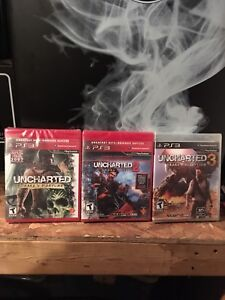 UNCHARTED 1,2&3 FOR PS3 (((NEW)))