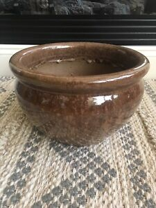 Ceramic Brown Plant Pot