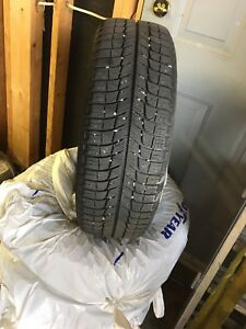 """4 x 15 """" Michelin X-Ice Snow Tires with Rims"""