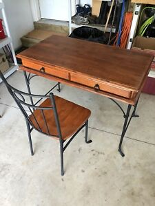 Antique desk and matching chair
