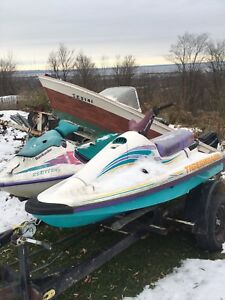 2 jetskis and double trailer