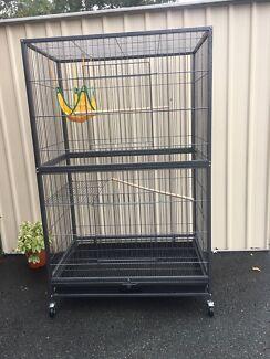 BRAND NEW - HUGE bird cage $260 Incl racks, ladders, hammock, perches