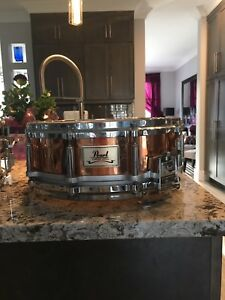 "Pearl 4.5""x14"" free floating copper snare drum $215 obo"