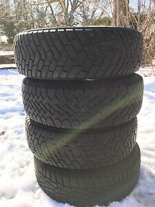 "4 used Winter tires 15"" and rims"