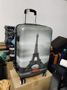 Printed suitcase 24 inch hard cover