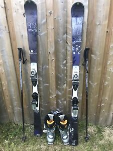 Women's Rossignol Skis with Saloman Boots and Poles