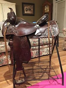 "Circle Y Equitation Western Saddle - 15.5"" seat"