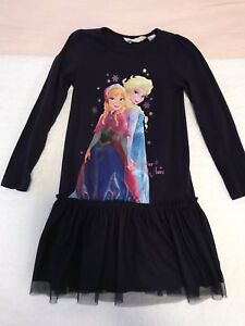Disney frozen Elsa and Anna long sleeve dress. Size 4-6 yrs