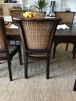 6x Quality Rattan Dining Chairs