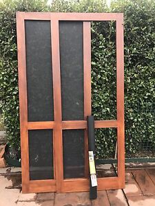 Fly screen Doors 2060 x 820 x 19mm Fresco Timber Screen Door The Entrance North Wyong Area Preview