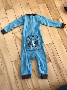 Baby boy flapjack PJs 12 months