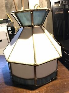 Tiffany style stained glass light