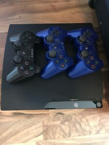 PS3 with 3 controllers and 12 games