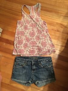 AE outfit size xs top and size 2 shorts